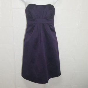Alfred Angelo Eggplant Strapless Dress